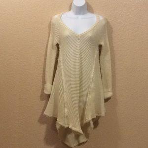 Listicle tunic sweater, women's size (M) beige